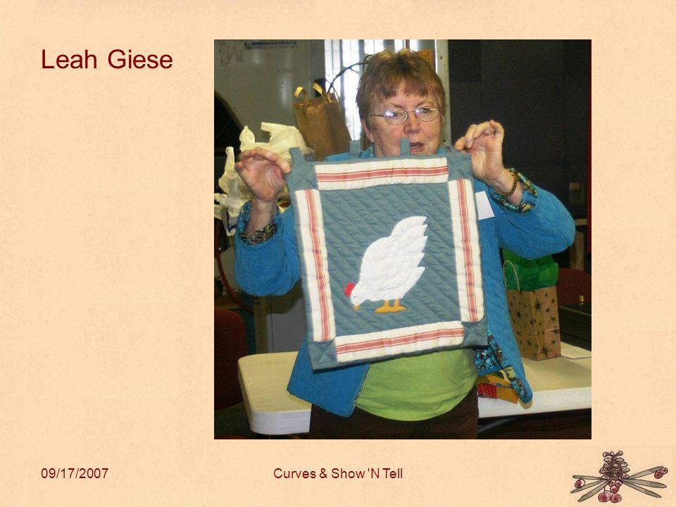 09/17/2007Curves & Show N Tell Leah Giese