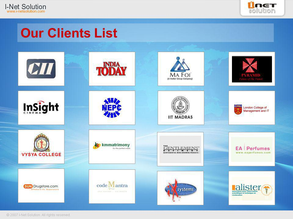 Our Clients List