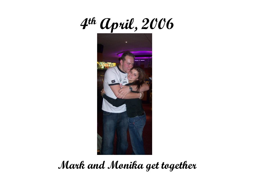 4 th April, 2006 Mark and Monika get together