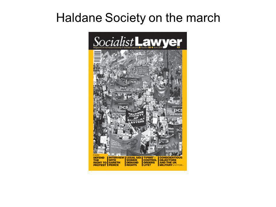 Haldane Society on the march