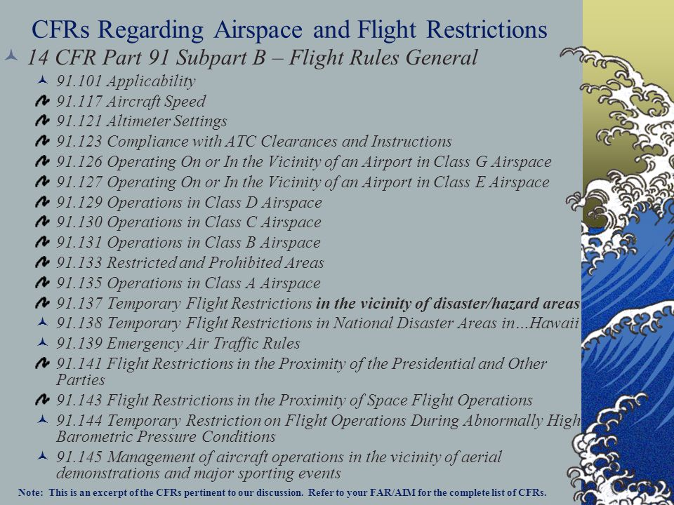 Special use airspace consists of that airspace wherein activities must be confined because of their nature, or wherein limitations are imposed upon aircraft operations that are not a part of those activities, or both Except for Controlled Firing Areas, special use airspace areas are depicted on aeronautical charts Prohibited and Restricted Areas are regulatory special use airspace and are established in FAR Part 73 through the rule- making process Warning Areas, Military Operations Areas (MOA), Alert Areas, National Security Areas (NSA), and Controlled Firing Areas (CFA) are nonregulatory special use airspace.