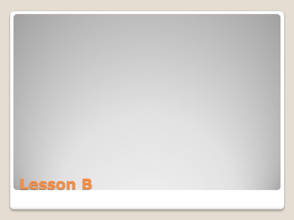Lesson B