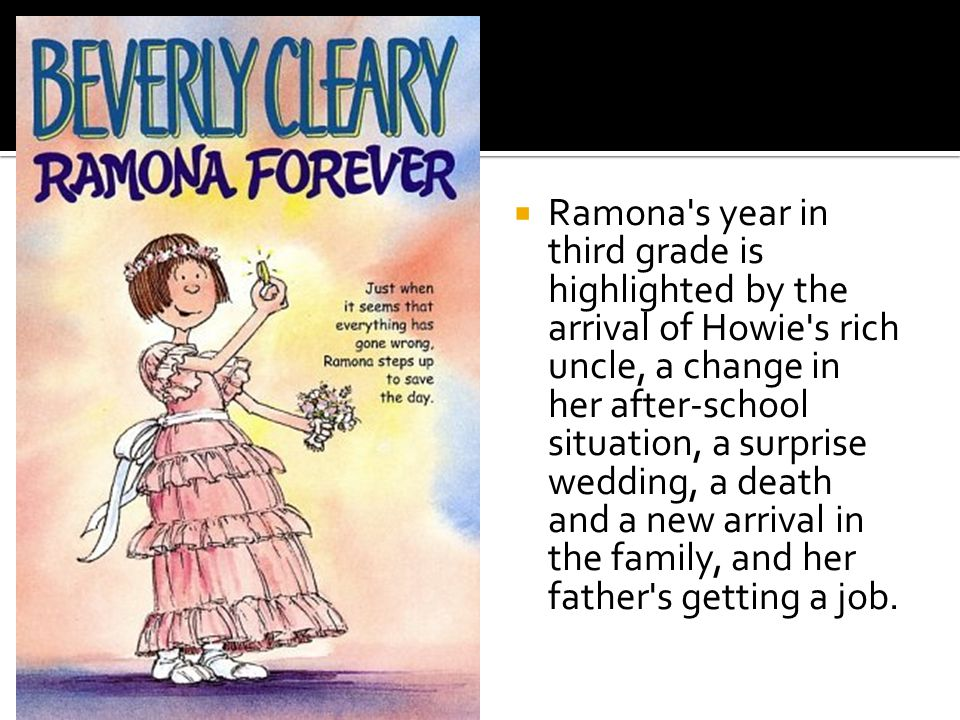 Ramona Quimby expects fourth grade to be the best year of her life; and although things do not go just as she had hoped, she still manages to have her share of adventures.