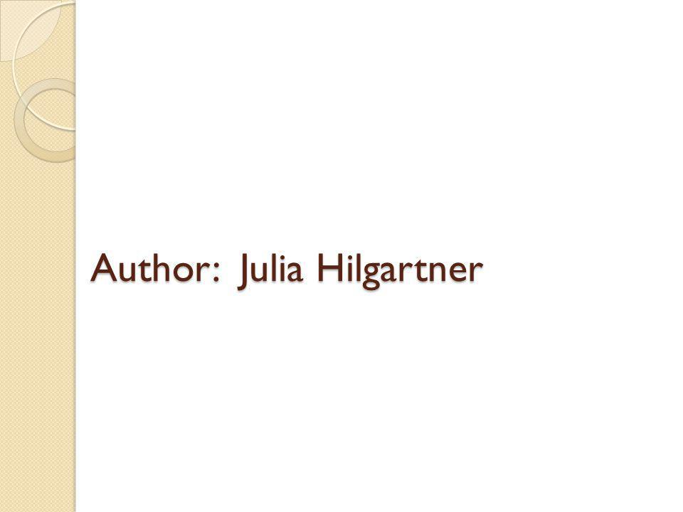 Author: Julia Hilgartner