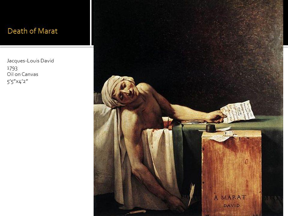 Death of Marat Jacques-Louis David 1793 Oil on Canvas 55x42