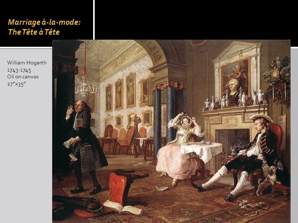 Marriage à-la-mode: The Tête à Tête William Hogarth 1743-1745 Oil on canvas 27x35