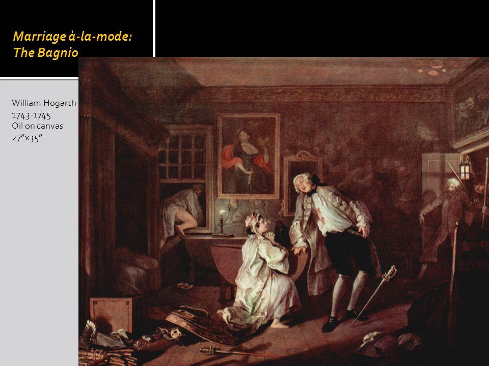 William Hogarth 1743-1745 Oil on canvas 27x35 Marriage à-la-mode: The Bagnio