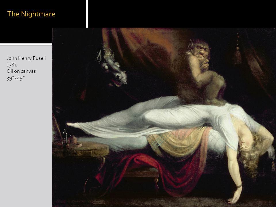 The Nightmare John Henry Fuseli 1781 Oil on canvas 39x49