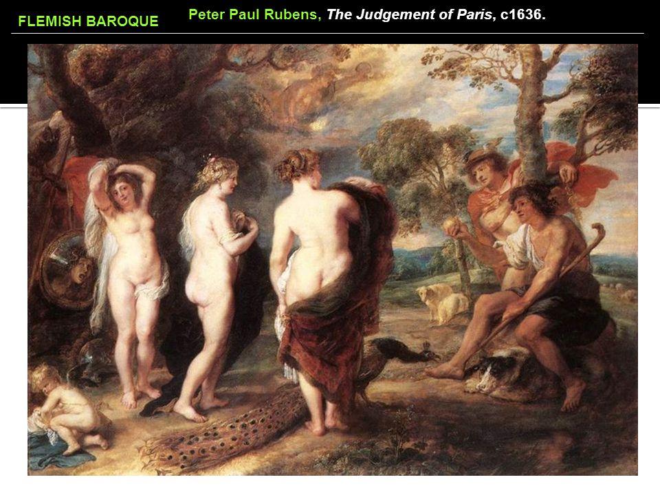 FLEMISH BAROQUE Peter Paul Rubens, The Judgement of Paris, c1636.