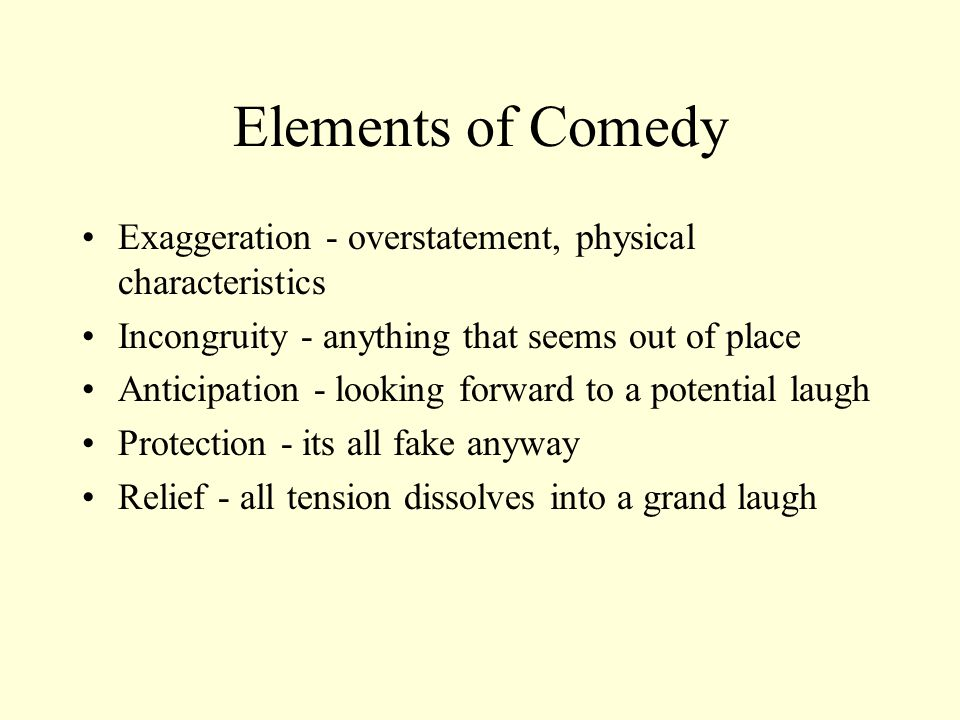 Obscure Theatrical Styles… Theater of Involvement: participation by members of the audience, performers enter audience and address individuals.