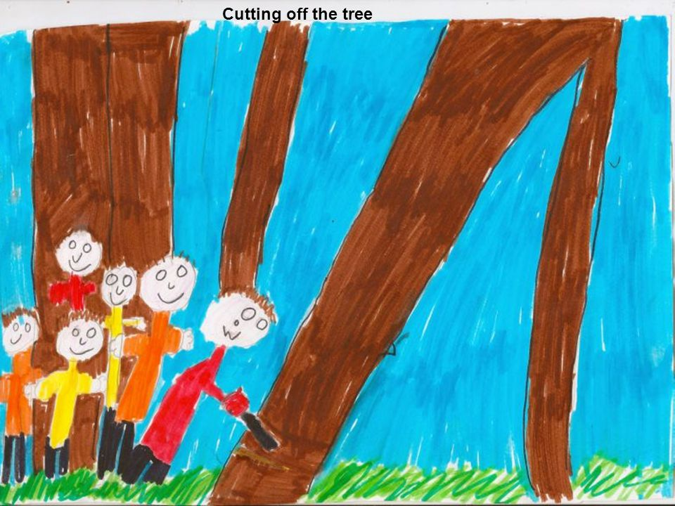 Cutting off the tree