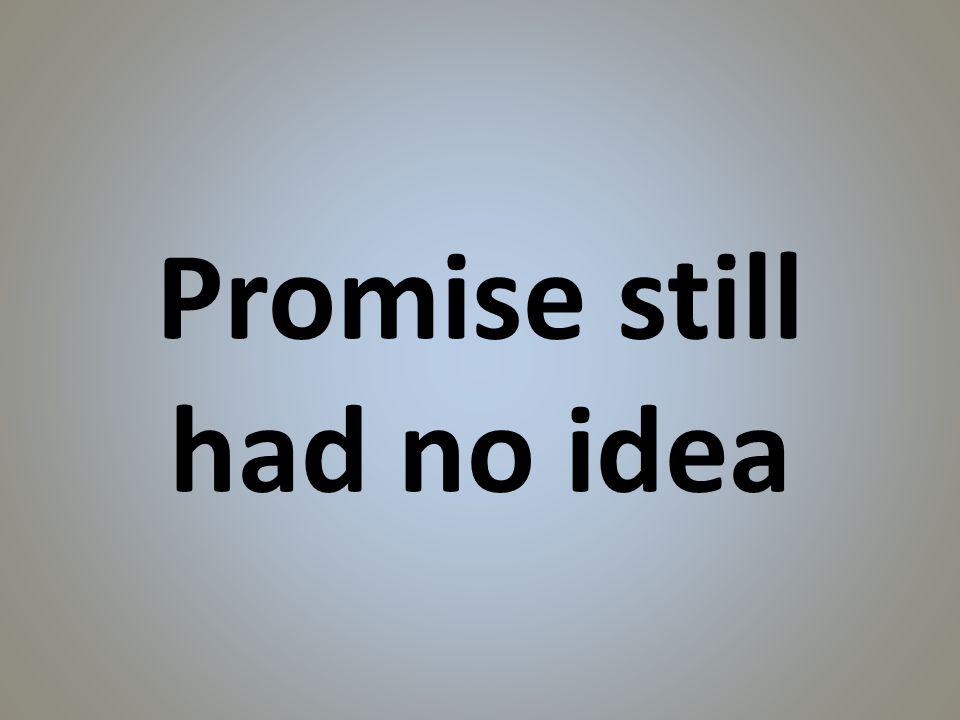 Promise still had no idea