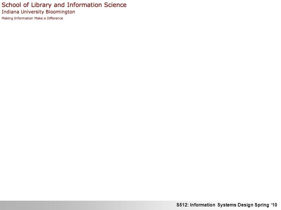 S512: Information Systems Design Spring 10