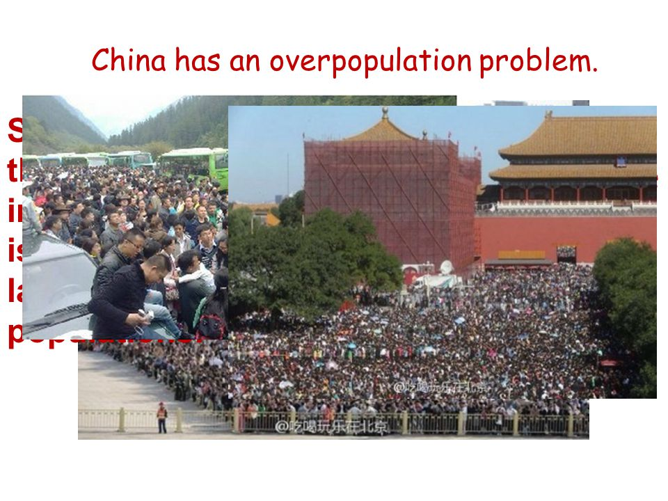 China has an overpopulation problem. Simple things turn into major issues with large populations.