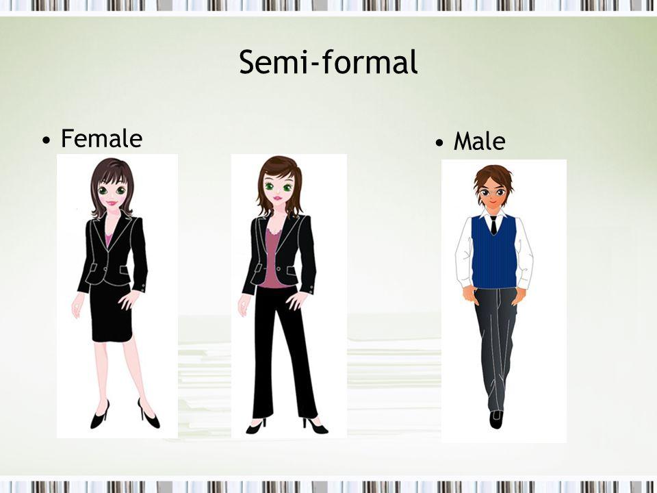 Semi-formal Female Male