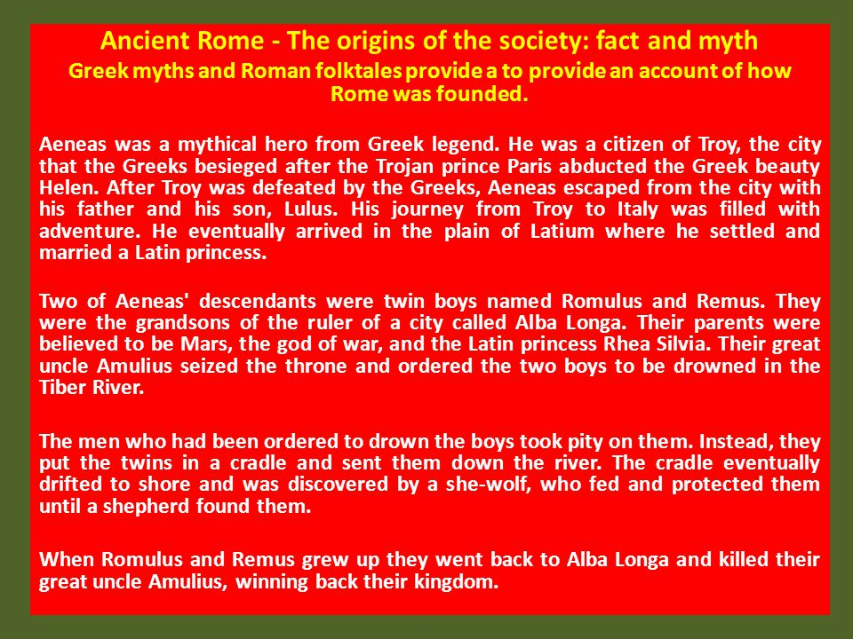 Societal hierarchy in the Republic Roman society was divided into a number of social classes.