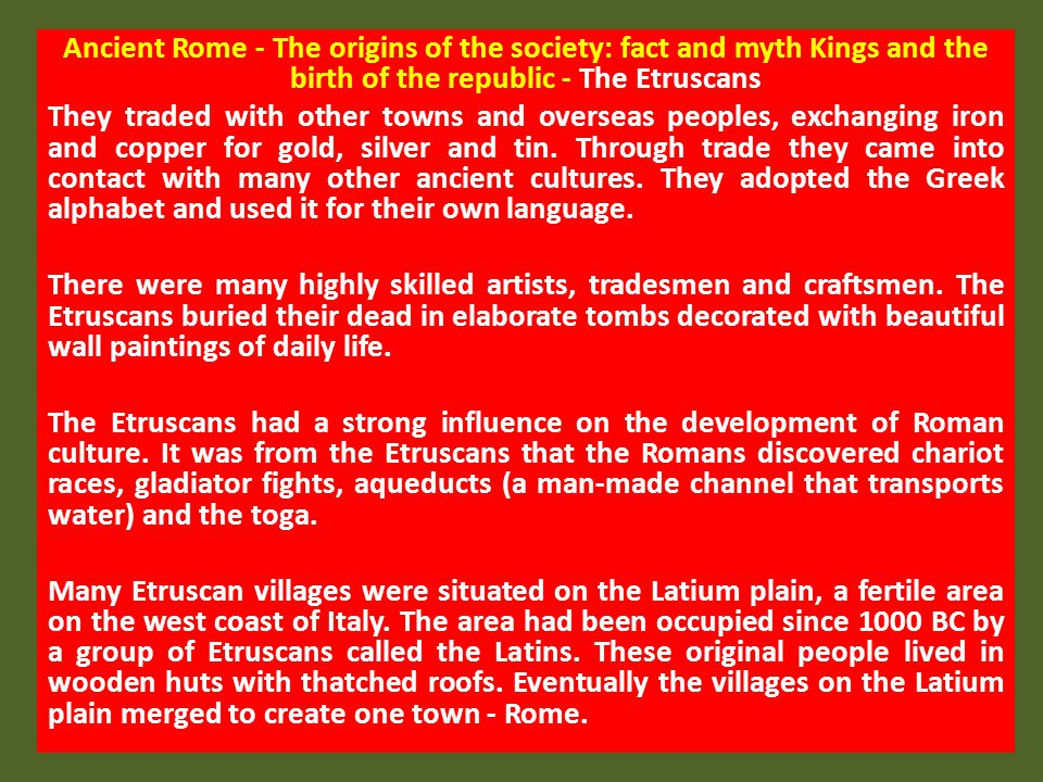 Work: urban and rural There were some less glamorous occupations held by some Romans.