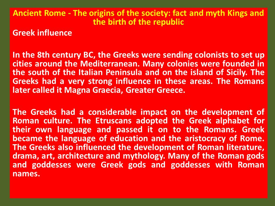 Religion in the Roman society - The gods and goddesses of ancient Rome There were two groups of gods and goddesses in ancient Rome.