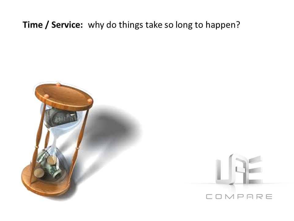 Time / Service: why do things take so long to happen