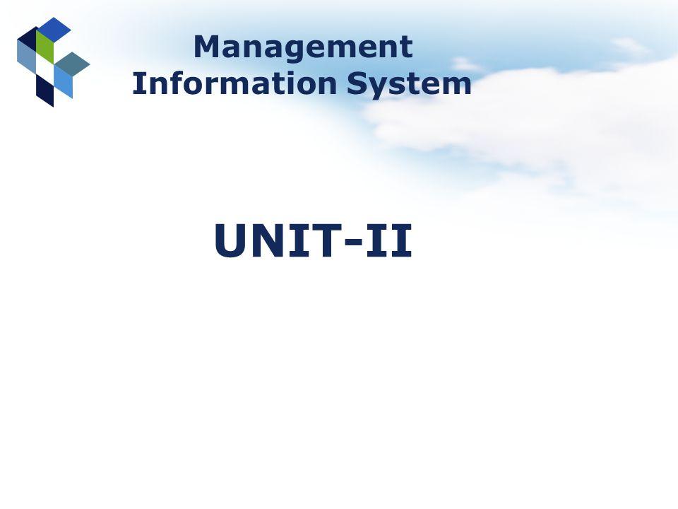 Management Information System UNIT-II