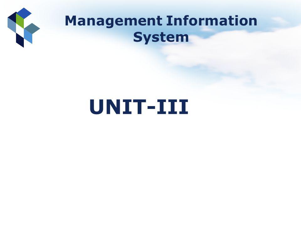 Management Information System UNIT-III