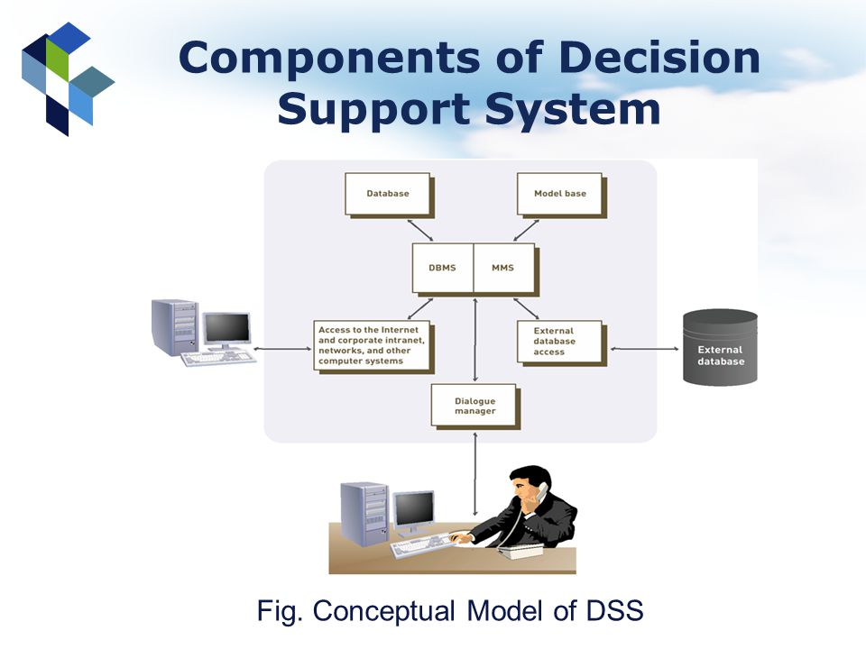 Components of Decision Support System Fig. Conceptual Model of DSS
