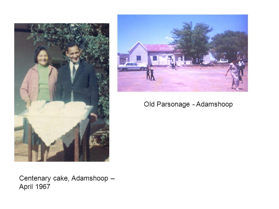 Old Parsonage - Adamshoop Centenary cake, Adamshoop – April 1967