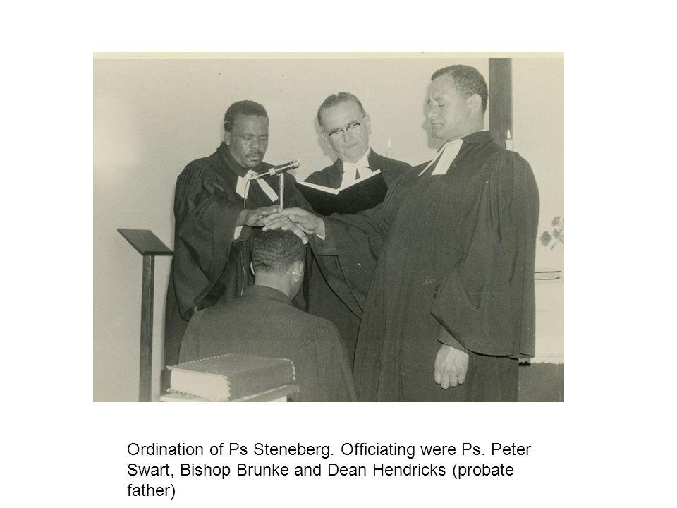 Ordination of Ps Steneberg. Officiating were Ps. Peter Swart, Bishop Brunke and Dean Hendricks (probate father)