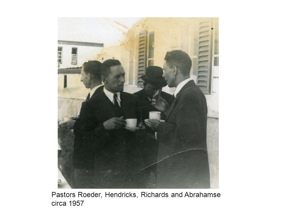 Pastors Roeder, Hendricks, Richards and Abrahamse circa 1957