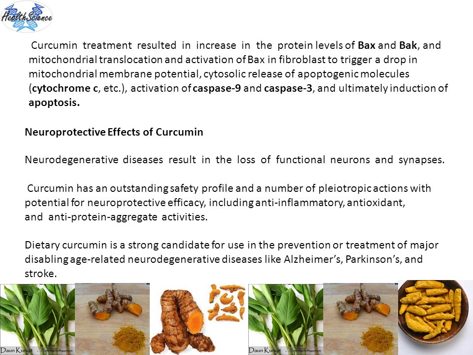 13 Curcumin treatment resulted in increase in the protein levels of Bax and Bak, and mitochondrial translocation and activation of Bax in fibroblast t