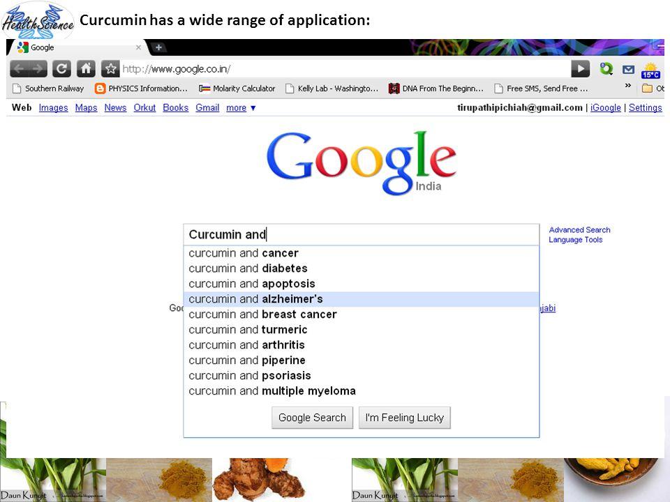 7 Curcumin has a wide range of application: