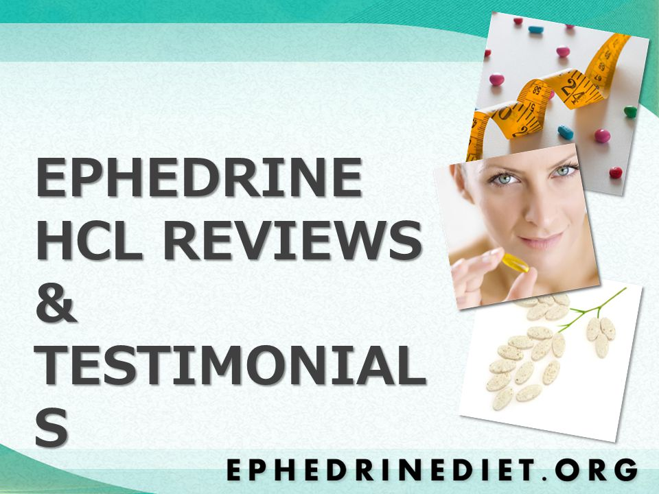 Ephedrine is perhaps the most researched weight loss supplement on the market today.