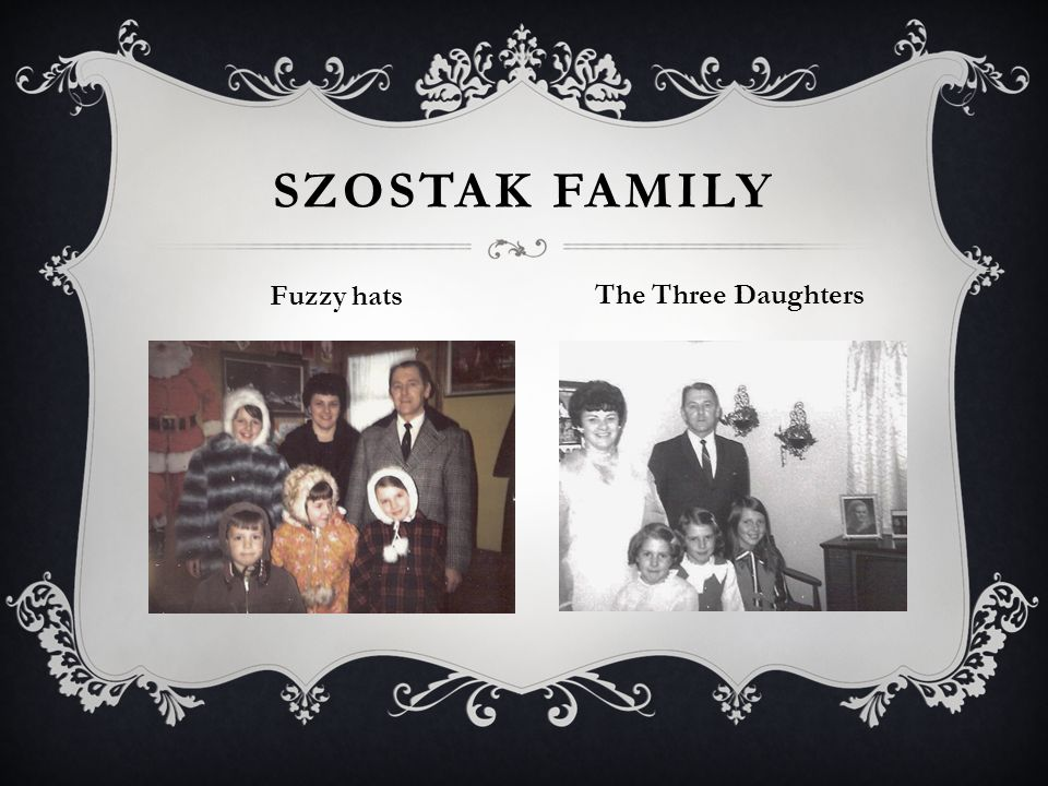 SZOSTAK FAMILY Fuzzy hats The Three Daughters