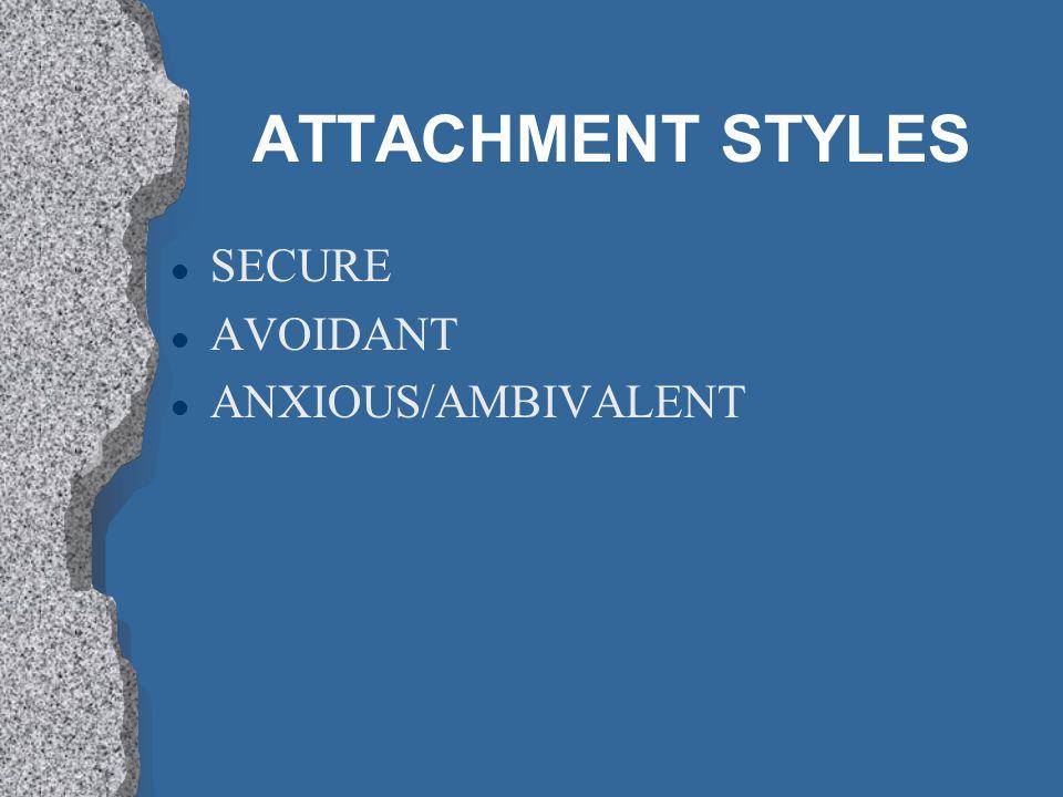 ATTACHMENT STYLES l SECURE l AVOIDANT l ANXIOUS/AMBIVALENT