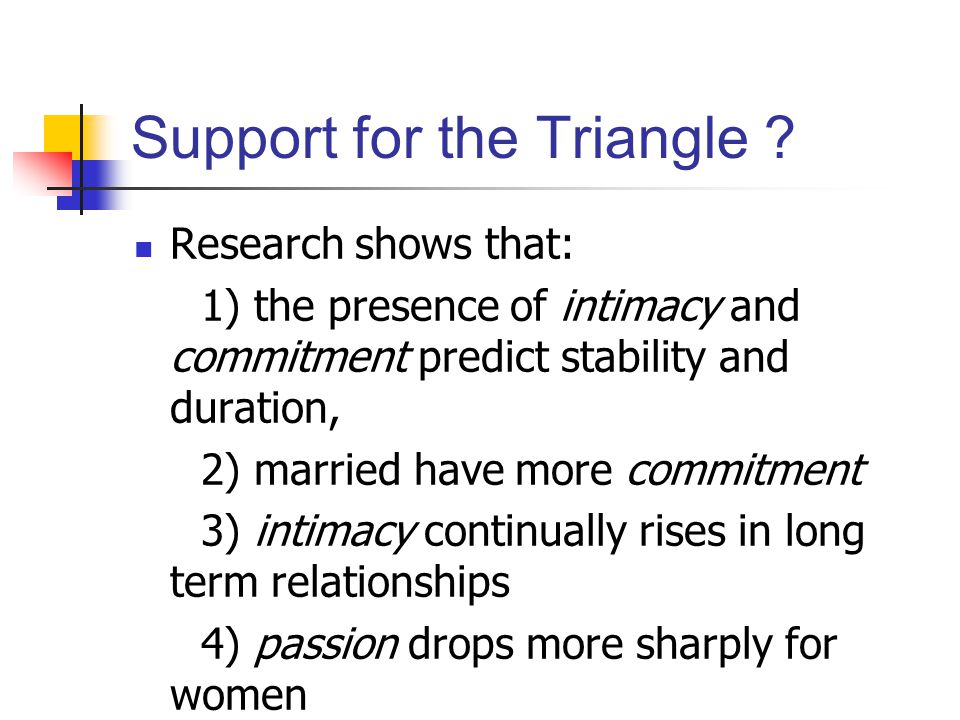 Support for the Triangle .