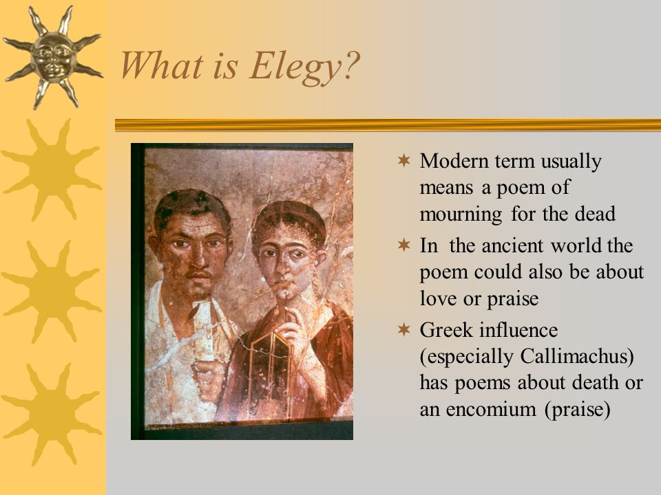 What is Elegy.