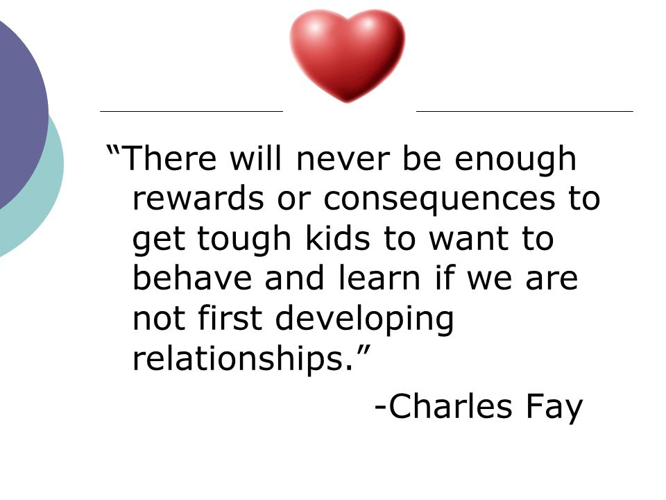 Lectures dont work; kids dont learn through lectures. -Charles Fay