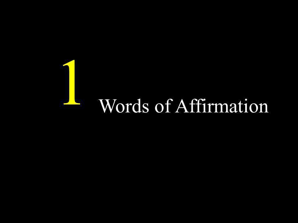 Words of Affirmation 1