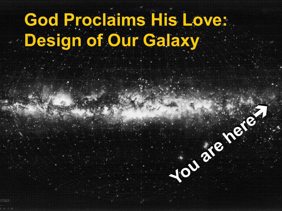 God Proclaims His Love: Design of Our Galaxy You are here
