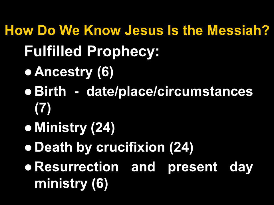 How Do We Know Jesus Is the Messiah.