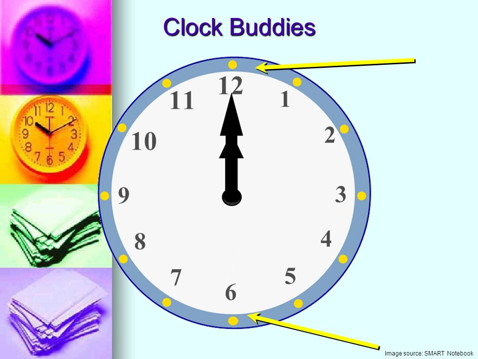 Clock Buddies Image source: SMART Notebook