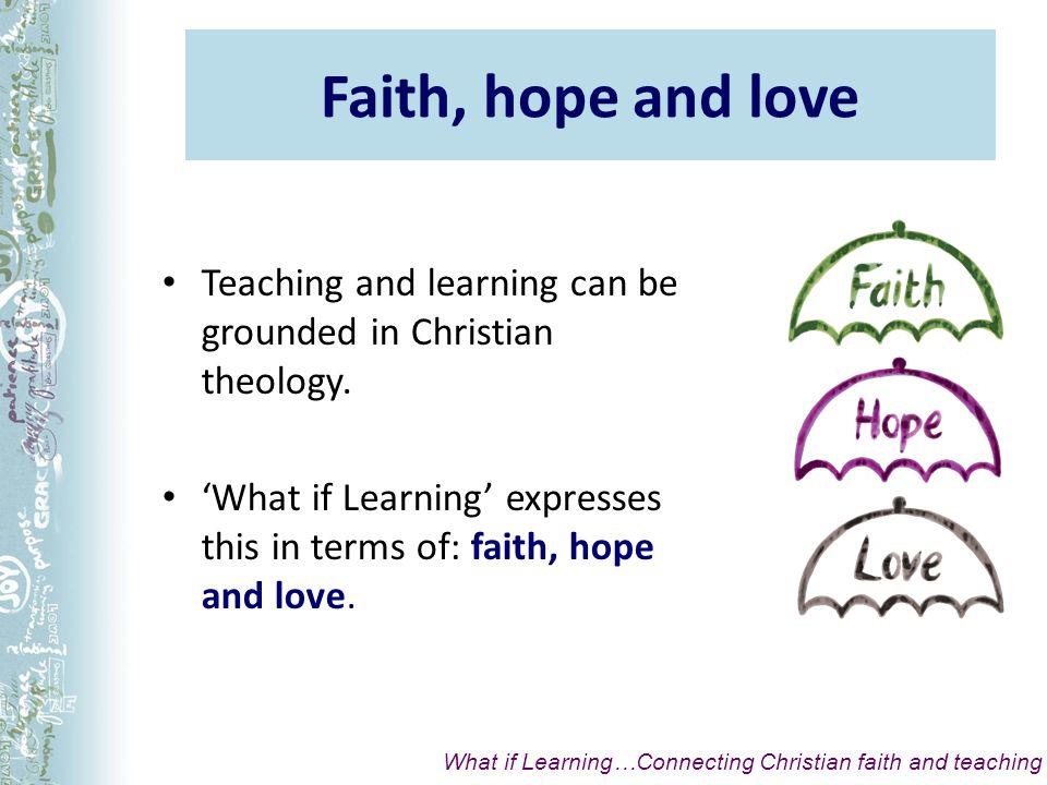 Faith is: An attitude of trust in God.