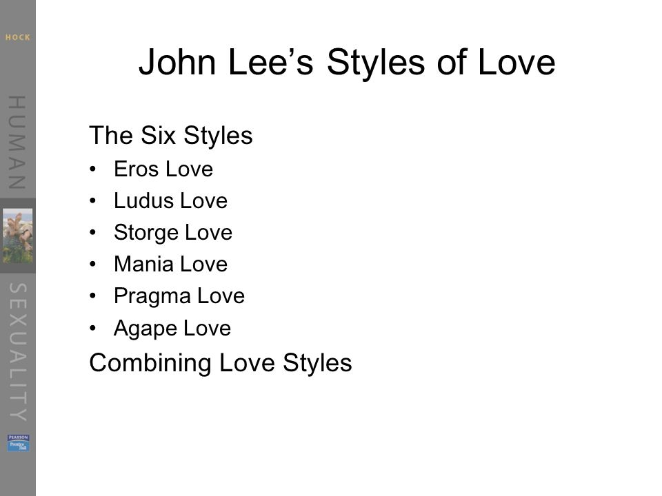 John Lees Styles of Love (cont.)