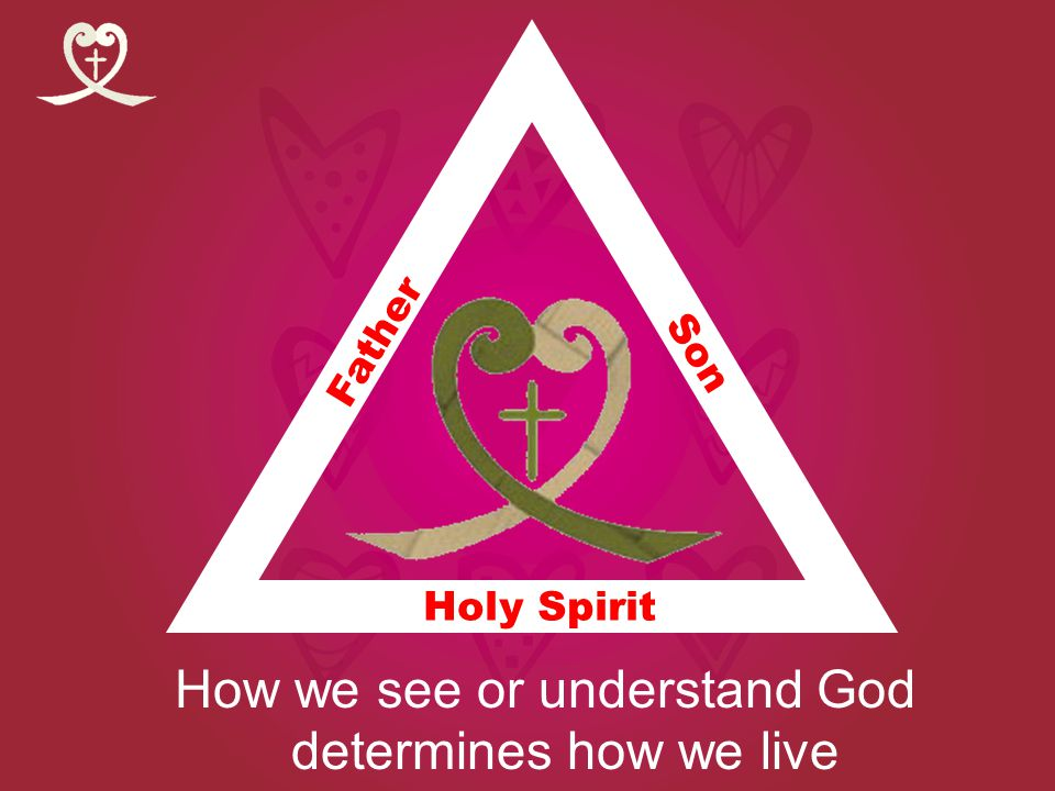 Holy Spirit How we see or understand God determines how we live Holy Spirit Son Father