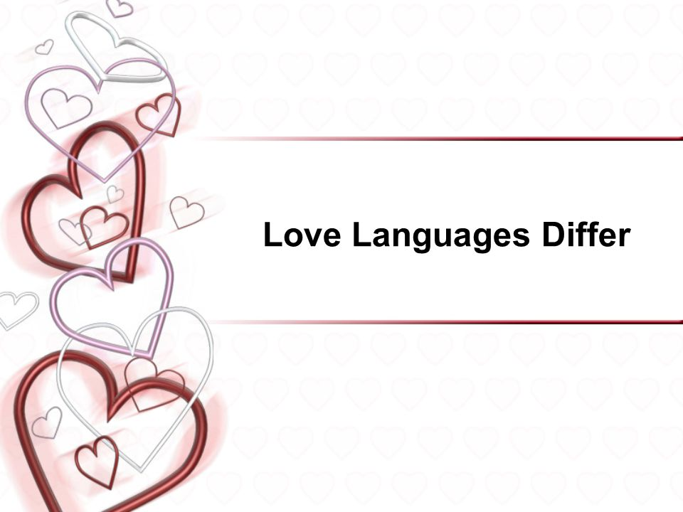Love Languages Differ 15