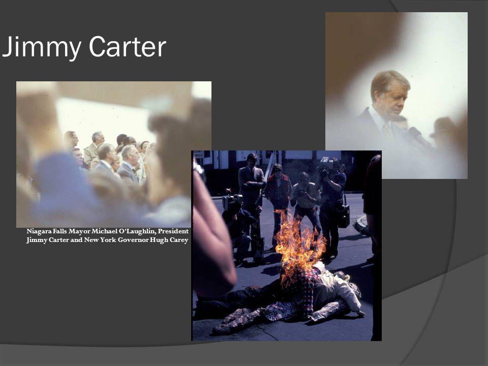 Jimmy Carter Niagara Falls Mayor Michael O'Laughlin, President Jimmy Carter and New York Governor Hugh Carey