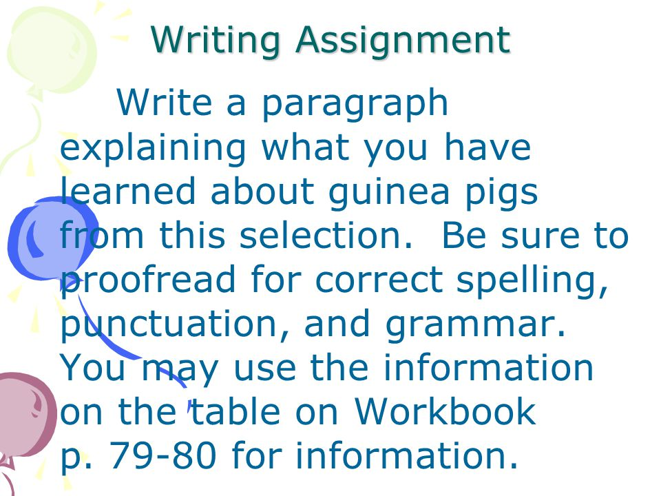 Review 2 1.What does an owner need to do to make his guinea pig friendly and tame? 2.What does the author want you to remember the most about guinea p