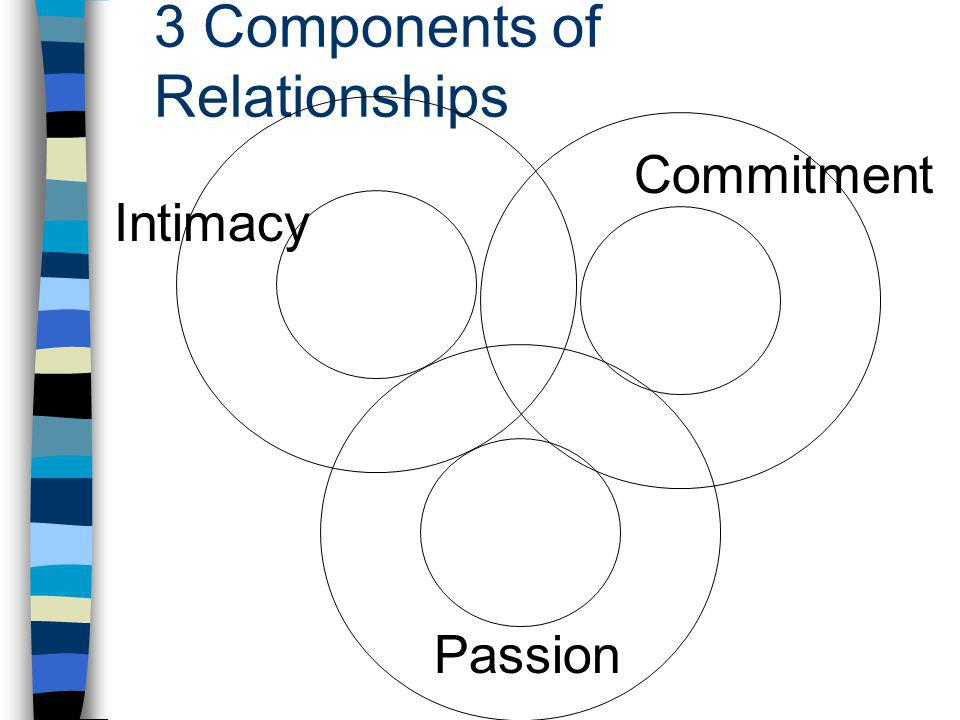 3 Components of Relationships Intimacy Passion Commitment