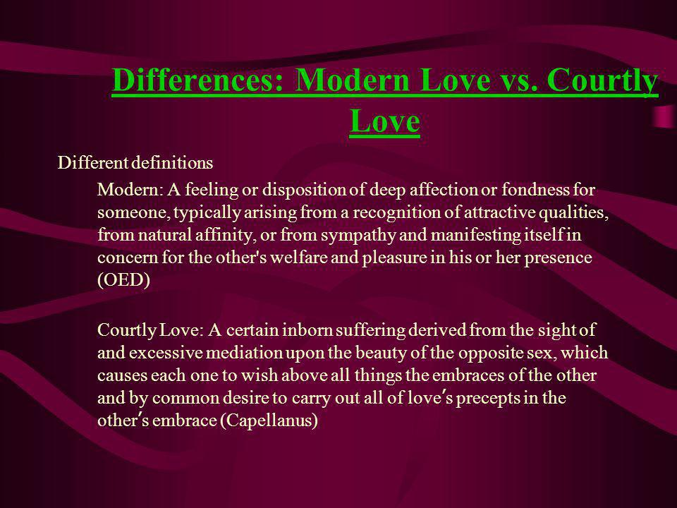 Differences: Modern Love vs.