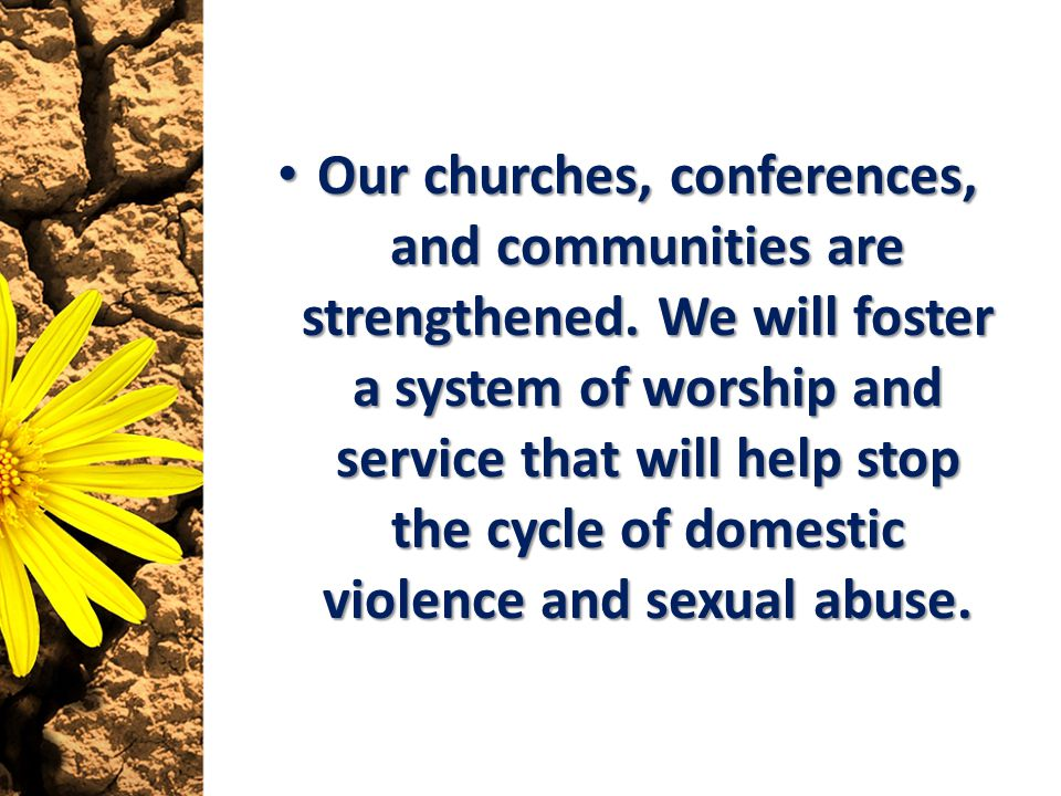 Our churches, conferences, and communities are strengthened.
